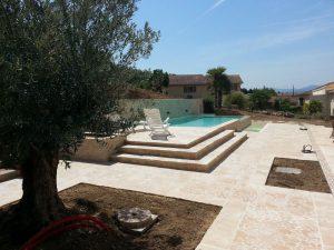 Aménagement terrasse et piscine Est-lyonnais